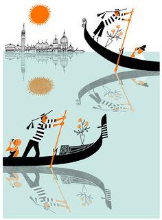 Venice - Klas Fahlén illustration
