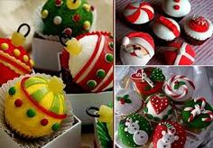 cupcakes and muffins become ornaments Christmas Dishes, Christmas Goodies, Christmas Desserts, Christmas Treats, Christmas Baking, Holiday Treats, Holiday Fun, Holiday Recipes, Christmas Holidays