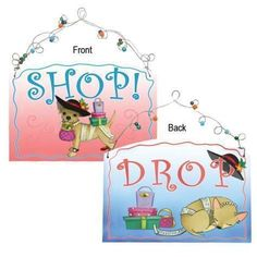 Aye Chihuahua Shop Or Drop Plaque by Westland Giftware
