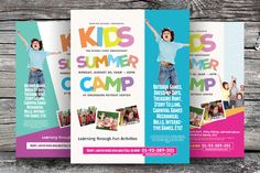 Check out Kids Summer Camp Flyers Vol.02 by kinzi21 on Creative Market