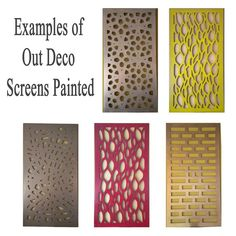 Outdeco Screens - painted