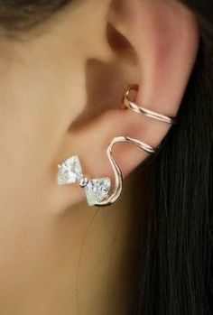 Lovely Bowknot Single Ear Cuff ♥