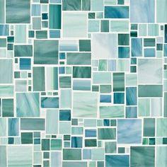 ღღ Ann Sacks Beautiful Seaglass Mosaic Tile in Chrysalis!