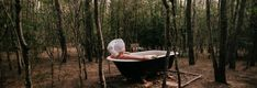 Tree Tops is one of six private cottages set on the popular Billabong Moon estate located on the Hunter's famous Hermitage Road, Pokolbin. Claw Foot Bath, Outdoor Baths, Romantic Night, Wood Fireplace, Tree Line, Tree Tops, Clawfoot Bathtub, Contemporary Decor, Life Is Good