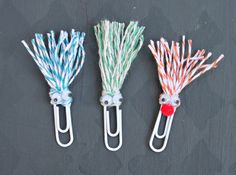 clips decorados com barbantes lisrtados #bakers #twine #diy #tutorial