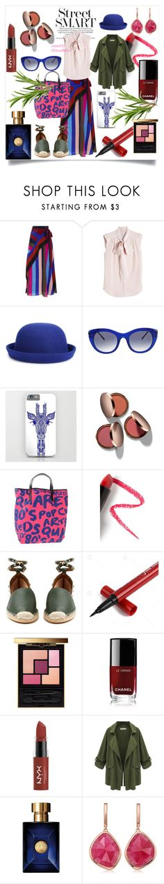 """""""#78StreetStyle"""" by helena-bekker ❤ liked on Polyvore featuring Diane Von Furstenberg, MaxMara, WithChic, Thierry Lasry, Nude by Nature, Dsquared2, Lapcos, Valentino, Yves Saint Laurent and Chanel"""