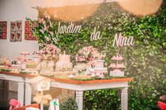 Festa tema Jardim | Macetes de Mãe