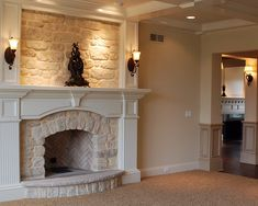 Traditional Living Room Fireplace Mantel Design, Pictures, Remodel, Decor and Ideas - page 54