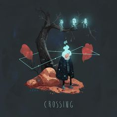 Another experiment. Crossing.  (animated with Photoshop)