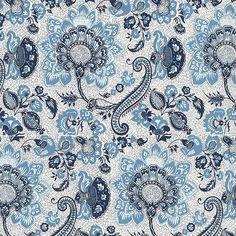 Blue Jacobean Print Italian Paper ~ Tassotti