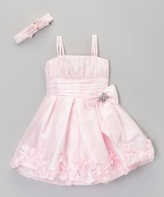 Another great find on #zulily! Pink Bow Dress & Headband - Infant & Toddler by ClassyKidzShop #zulilyfinds