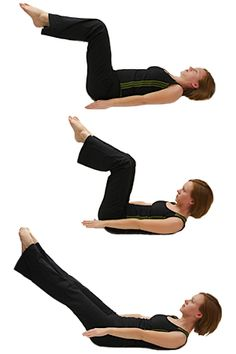 Experts say the best ab moves are those that engage the deepest stomach muscles to pull in your waistline like a corset . The classic Pilates Hundred works the arms and contracts the core and teaches you to coordinate your breath and movements. Practice this 3 times a week. Eventually you'll build up to 100 arm pumps, hence the name of the move.
