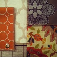 Having Fun Mixing Geometric Shapes With Floral Patterns @Bassett Furniture  Fabrics.