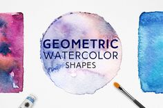 Geometric Watercolor Shapes by FreezeronMedia on Envato Elements Watercolor Projects, Watercolor Cards, Watercolour, Golden Texture, Space Backgrounds, Branding, Business Illustration, Geometric Shapes, Cool Designs