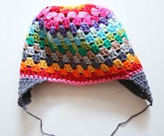 Bees and Appletrees (BLOG): regenboog muts haken! - rainbow beanie tutorial!