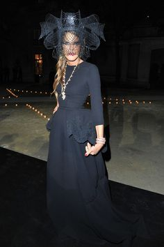 Anna Dello Russo attends LE BAL hosted by MAC and Carine Roitfeld as part of Paris Fashion Week Spring / Summer 2013