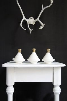 = Moroccan pots and white antlers