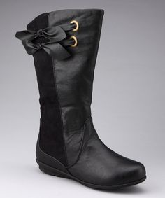 Take a look at this Black Betsy Boot by Yokids on #zulily today!
