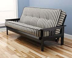 Full Size Monterey Wood Futon Frame  Black -- You can get more details by clicking on the image.