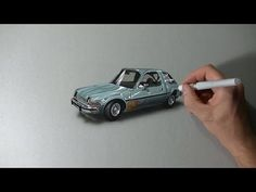 Drawing the Mirth-Mobile, Wayne's World AMC Pacer - Be Street Retro Movie Art - YouTube