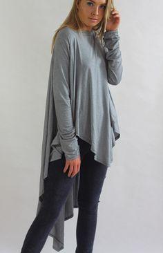 Godiva Stripe Oversized Drape Waterfall Tunic Top – Lagenlook Luxe Clothing