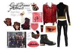 """Disney Descendants: Rotten to the Core: Quill Princess of Hearts"" by e-auradon on Polyvore featuring Marco de Vincenzo, Balmain, Five and Diamond, Dolce&Gabbana, Disney, Givenchy, Alexander McQueen, Tom Ford, NOVICA and Too Faced Cosmetics"