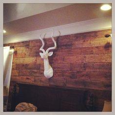 bedroom pallet wall, rustic wall, wood wall