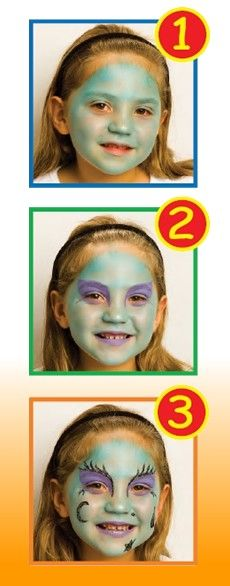 GREEN WITCH face painting for kids