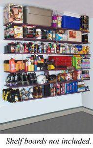 "Quick - Shelf Hangers Six Shelf 16"" Deep Ceiling Mount Shelving Unit - See the ""capacity"" of storage"
