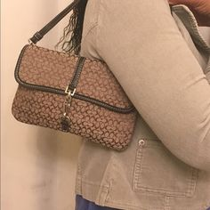 Coach hand bag Coach hand bag. Pre loved. In good condition. PRICE FIRM! Coach Bags Mini Bags