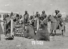 The escort of the Lamido (African King), in traditional clothes, Rey Bouba, Cameroon African History, African Art, Stock Pictures, Stock Photos, African Royalty, African Paintings, Medieval Clothing, Traditional Clothes, Body Armor