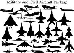Military and Civil Aircraft - DXF files Cut Ready CNC Designs - DXFforCNC.com