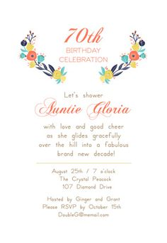 """Gliding over The Hill""  printable invitation template. Customize, add text and photos. Print or download for free!"