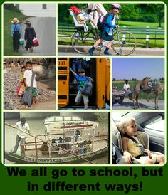 Not Everyone Takes A Bus To School!