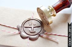 Aircraft Airplane Plane Gold Plated Wax Seal Stamp x 1 $20 - perfect for our destination wedding to Hawai'i!