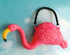 :O This is handmade from a plastic flamingo. Amazing. Inspired...