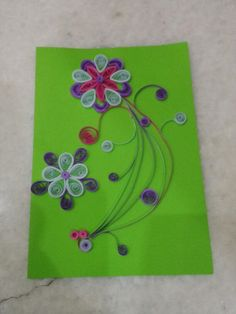 Beautiful quilled card by Hajra
