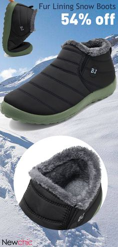 Men Waterproof Warm Fur Lining Letter Slip On Ankle Boots is fashionable, come to NewChic to buy mens boots online. Discount Mens Shoes, Cheap Mens Shoes, Mens Boots Online, Shoes Online, Moda Men, New Chic, Snow Boots, Black Men, Men's Shoes