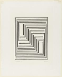 Josef Albers, To Monte Alban from the series Graphic Tectonic, 1942, lithograph