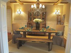 reclaimed barnwood table by jenny blalock, luxe homes & design ...