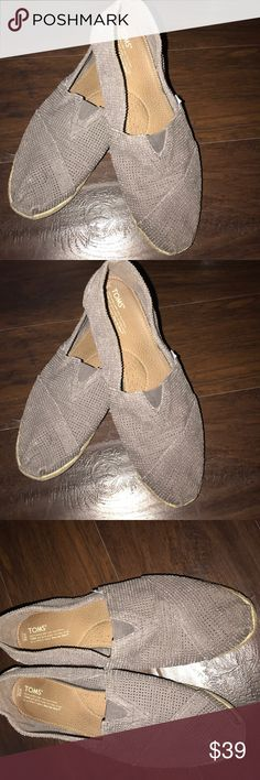 Toms men's shoes size 12 Was hardly used,has minor dirt on the bottom.This is a distressed material. Toms Shoes Loafers & Slip-Ons
