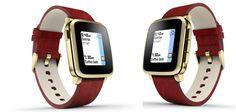 """Pebble Time Steel Smartwatch für 130€ - 1,25"""" Smartwatch mit Leder-Armband *UPDATE*"""