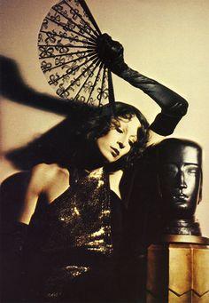"Anjelica Huston by David Bailey, for ""British Vogue,"" 1973"