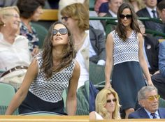 Pippa in navy at Wimbledon