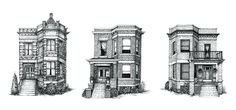 Cape Horn Illustration Creates Detailed Ink Drawings of Chicago Residences,© Cape Horn Illustration