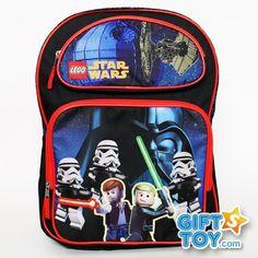 "Star Wars 16 Backpack - Luke Darth Vader Boys School Book Bag LARGE by LEGO. $16.50. LEGO Star Wars 16"" Backpack - Luke Darth Vader Boys School Book Bag LARGE. Measurements: 16"" (L) x 12"" (W) x 5"" (D) Large Front Pocket: 9"" (L) x 10 "" (W)  Small Front Pocket: 9"" (L) x 4.5 "" (W)"
