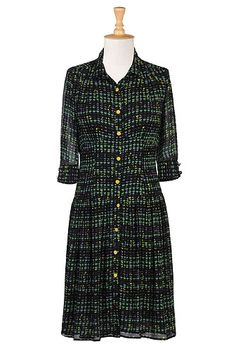 My grandma used to wear dresses like this and she always looked SO stylish. I would love to try to follow in her ties (footsteps). Heart mints shirtdress