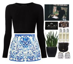 """""""are you so lonely? Is that why uou push me away?"""" by french-heart ❤ liked on Polyvore featuring Dolce&Gabbana, Cushnie Et Ochs, Converse, Lux-Art Silks, John Lewis, Le Labo and CASSETTE"""