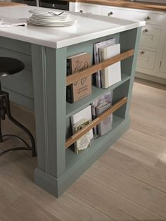 Great storage for a kitchen. Recipe books etc !