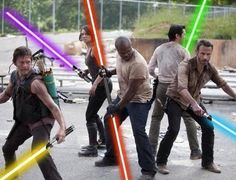 I've always said that the lightsaber is the perfect zombie apocalypse weapon.